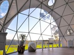 Bay Windows offer spectacular views in your own #Dome Home (Photo taken at Mile End #Glamping in #Australia & Dome by Pacific Domes)
