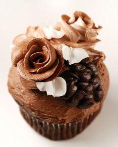 Chocolate wedding cupcake  @Alicia T Grover