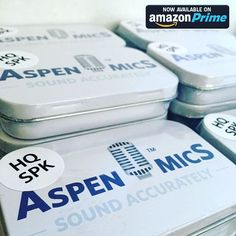 We are excited to announce that our #AspenMics HQ-SPK lavalier microphones are now available on Amazon Prime!  A great lav mic for iOS and Android smart devices! Without the adapter you can use the stereo lav with DSLR cameras mirrorless cameras and audio recorders that provide plugin power.  More info at AspenMics.com