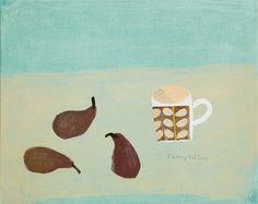 Blue Day by Elaine Pamphilon | Mixed media on canvas | 40 x 50 cm #elainepamphilon #tannerandlawson #stilllife