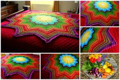 Because her blankets....they make me smile.....How does your garden grow? http://www.ravelry.com/projects/AFwifeCrochetNut/rainbow-ripple-baby-blanket-33