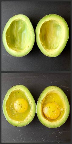 What to eat for a healthy breakfast How to Bake Eggs in an Avocado! (This is an excellent Paleo or low-carb breakfast. Breakfast And Brunch, Low Carb Breakfast, Breakfast Recipes, Avocado Breakfast, Breakfast Ideas, Dinner Recipes, Avocado Recipes, Vegetarian Recipes, Cooking Recipes