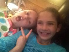 The one with the peace sign is my cousin