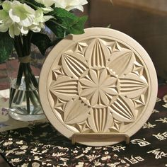 CACTUS ROSE hand carved decorative plate by HandCarvedPlates, $70.00