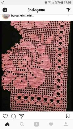 This post was discovered by tah Crochet Lace Edging, Crochet Borders, Love Crochet, Crochet Doilies, Knit Crochet, Filet Crochet Charts, Crochet Stitches, Knitting Patterns, Crochet Patterns