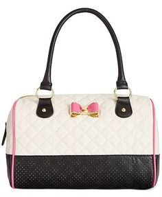Betsey Johnson Quilted Perf Satchel