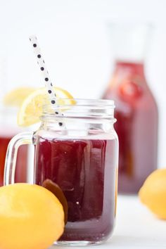Sparkling Blackberry Lemonade - a fun twist on the classic summer drink -- perfect for all of those warm weather get-togethers!