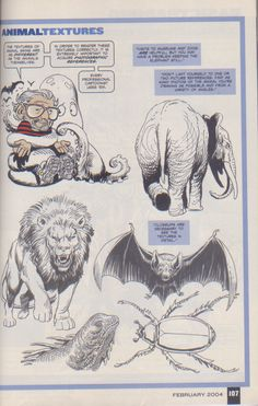 Scan from Wizard Magazine 148. Basic Training: Part 6 of 6 Joe Kubert shows how to do textures. p107