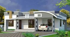 House Design with Full Plan 3 Bedrooms - Samphoas. Flat Roof House Designs, House Roof Design, Simple House Design, Bungalow House Design, Modern House Design, Single Floor House Design, Home Design Floor Plans, House Layout Plans, House Layouts