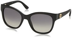 Gucci Womens GG 3786S Black Rubber Sunglasses *** Learn more by visiting the image link.Note:It is affiliate link to Amazon.