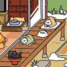 12/31/15 ゆきねこさん来た!雪うさぎとツーショット /(・ x ・)\ #ねこあつめ