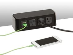 Outlets In The Desktop Easy Charging Of Extranious