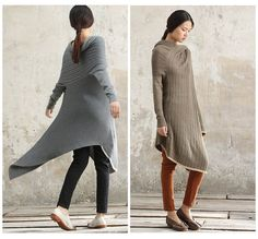 Wool Dress / Oversize Kaftan Dress / Long Dress in by camelliatune