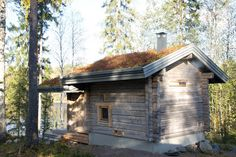 A retired couple in their 60s decided upon this smoke sauna for their country house near Heinola, a town 90 minutes north of Helsinki. Precautions to prevent the structure from burning down include a flame-retardant concrete floor and walls protected with noncombustible materials.The structure includes a covered terrace for cooling off.