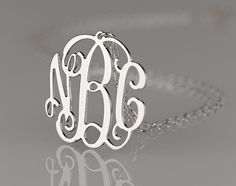 Monogram necklace  125 inch Personalized by PersonalizedNecklace, $35.95