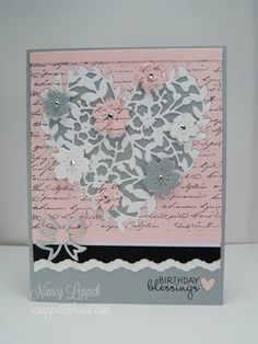 Stampin' Up! Bloomin' Heart thinlit