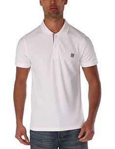 Bench Herren Polo Shirt Crystalline B, Bright White, M, BMGA3331B