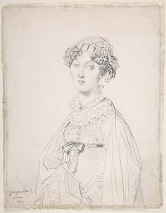 Lady Mary Cavendish-Bentinck (?-1843)  Jean-Auguste-Dominique Ingres  (French, Montauban 1780–1867 Paris)  Date: 1816 Medium: Graphite