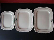 Set of 3 Graduated Art Deco Serving Platters Crown Devon 1930's