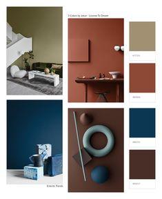 3 Color Universes 2020 by Norwegian company Jotun - Eclectic Trends Eclectic Trends Colour Pallete, Color Schemes, Cottage Interiors, Interior Design Tips, Interior Colors, Colour Board, Home And Deco, Vintage Design, Color Trends