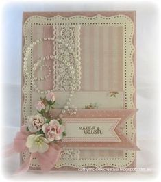 Make a Wish by Cathy Mc - Cards and Paper Crafts at Splitcoaststampers Handmade Birthday Cards, Greeting Cards Handmade, Card Birthday, Pretty Cards, Cute Cards, Shabby Chic Cards, Spellbinders Cards, Beautiful Handmade Cards, Marianne Design