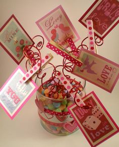 Valentine Table Centerpiece/ Card Holder by LotusBlossomsDesigns, $18.00