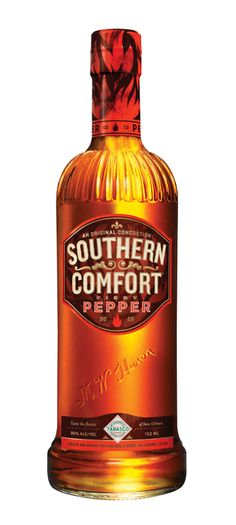 SPICY WHISKY ?  Southern Comfort Fiery Pepper is a fusion of two Louisiana classics, Southern Comfort and Tabasco.  Loving this SoCo design and launch kit for their new Tabasco Fiery Pepper flavor...