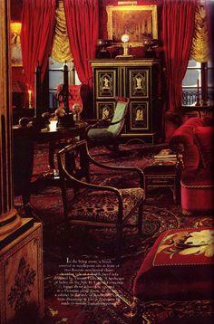 Oscar de La Renta New York apartment by Denning & Fourcade, 1980s.
