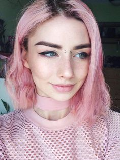 Pastel pink hair dye by donutbutts