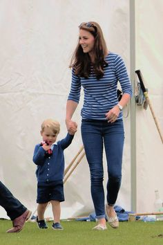 Catherine, Duchess of Cambridge attends the Gigaset Charity Polo Match with Prince George of Cambridge at Beaufort Polo Club | June 14, 2015
