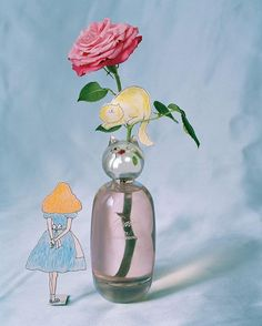 """""""My mother had a rose garden, and it just never occurred to me to smell like any other smell except rose,"""" @therealgracecoddington explains of the scent that she based her new fragrance on—a collaboration with @commedesgarcons launching April 19. Click the link in our bio for more. Photographed by Tim Walker, Vogue, March 2016; Illustrations by Grace Coddington."""