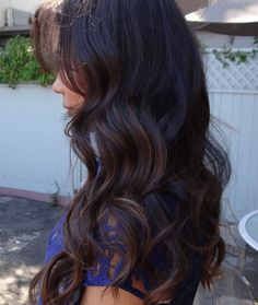 dark brunette hair color--I think this might be the next color I dye my hair:)