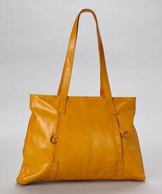 Gold Debra Leather Tote