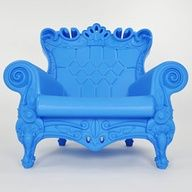 The Queen of Love Ethereal Blue Lounge Chairs The Queen of Love by Linvin. An ironic revisiting of the Louis XV style, the Queen of Love Armchair is not only a luxurious choice for seating but an. Baroque Furniture, Modern Furniture, Outdoor Furniture, Furniture Chairs, Painted Furniture, Lawn Furniture, Colorful Furniture, Furniture Design, Blue Lounge
