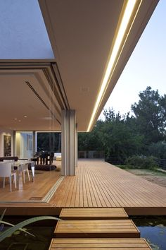 Interior/exterior overflow at LAM House in the Golan Heights, Israel by arstudio