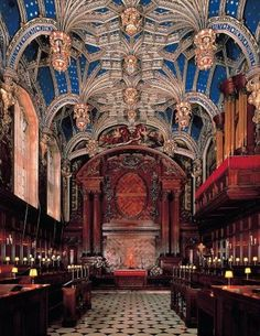 The Chapel Royal, Hampton Court, England, built in the 1520s by Cardinal Wolsey