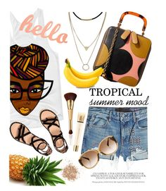 """""""hello tropical summer mood"""" by maripir on Polyvore featuring T By Alexander Wang, Orla Kiely, tarte, Louis Vuitton, Yves Saint Laurent and Topshop"""