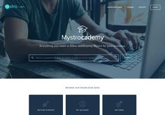 A clean and simple approach makes this Help Center so easy to use. @wearemystro
