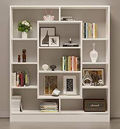 35 Fabulous Bookshelf Design Ideas For Your Interior Decor - A bookshelf is one of the most essential furniture required in an office or home. If you are a person who loves to read books and has a number of them. Diy Bookshelf Design, Creative Bookshelves, Modern Bookshelf, Wall Shelves Design, Wood Shelves, Shelving, Bookshelf Ideas, Diy Bookshelf Wall, Diy Bookcases