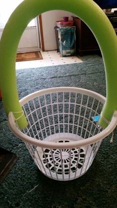 Clothes basket/pool noodle Easter Basket