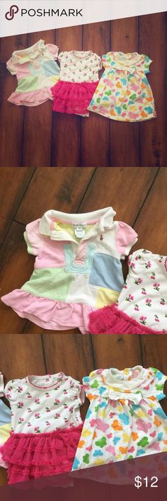 Bundle of baby dresses Bundle of baby dresses. Left one is Ralph Lauren. All three dresses were loved and worn in by my baby girl. Size 3 mo Dresses Casual