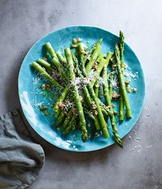 Asparagus with caper and shallot butter recipe :: Gourmet Traveller