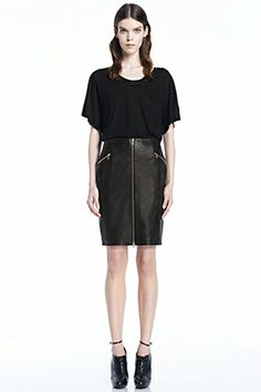 Invest in the Classics: Maxine Leather Skirt in Black. #StyleResolution #JBRAND