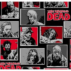 The Walking Dead, Black, 100% Cotton, 43/44 Width, Fabric by the Yard