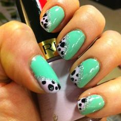 Daily Nail Art: Minty Dalmatian Nails | Blog | FlauntMe