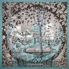 luxury-scarves.com 'Jardins de Nouvelle Angleterre', Laurence Bourthoumieux. 2009/10