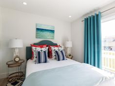 Tour the two-story Galveston beach house Drew completely transformed to earn him a long-awaited victory on Brother vs. Coastal Bedrooms, House Drawing, Guest Suite, Galveston, Coastal Decor, Beach House, Master Bedroom, Long Awaited, House Renovations