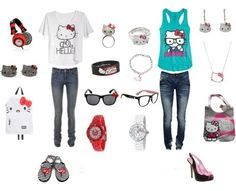 ok i LOVE hello kitty so i would totally wear both of these!