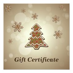 #Gingerbread Christmas Tree - Gift Certificate Card - #Xmas #ChristmasEve Christmas Eve #Christmas #merry #xmas #family #holy #kids #gifts #holidays #Santa