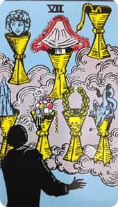 Tarot Card Meaning: Seven of Cups